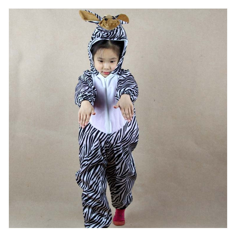 Umorden Kanak-kanak Kanak-kanak Gadis Gadis Boys Kartun Haiwan Zebra - Kostum karnival - Foto 3