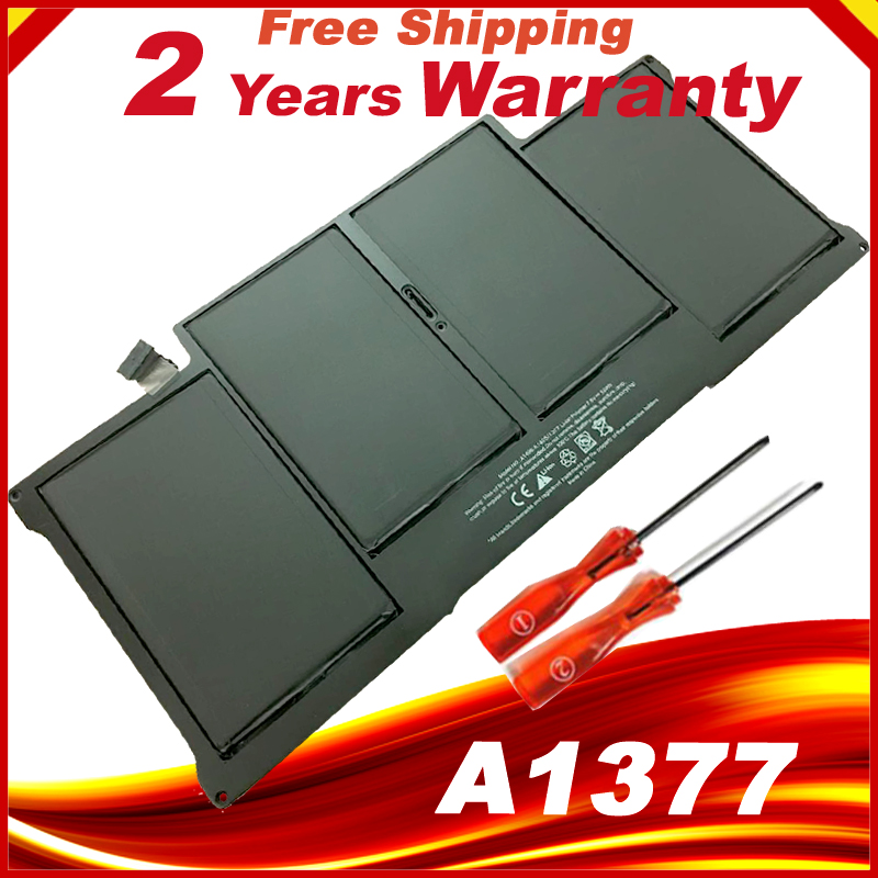 New laptop Battery for Apple MacBook Air 13 A1369 2010 production Replace A1377 battery Free shipping hsw rechargeable battery for apple for macbook air core i5 1 6 13 a1369 mid 2011 a1405 a1466 2012