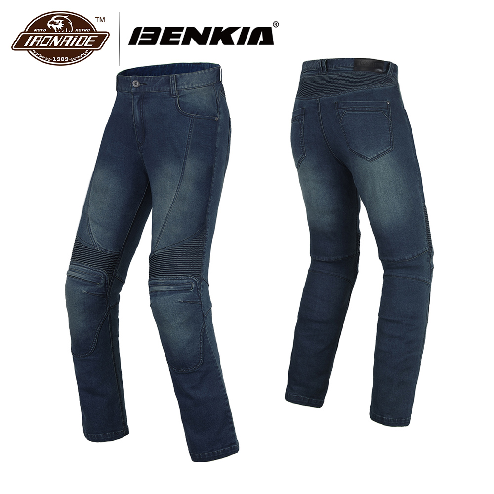 BENKIA Motorcycle Pants Trouser Denim Riding Motorcycle Jeans Men Cafe Racer Street Cruiser Motorbike Pantalon Moto Pants Armor tkosm 2018 brand motorcycle biker jeans men slim fit washed vintage ripped jeans camouflage leisure riding a motorcycle pants