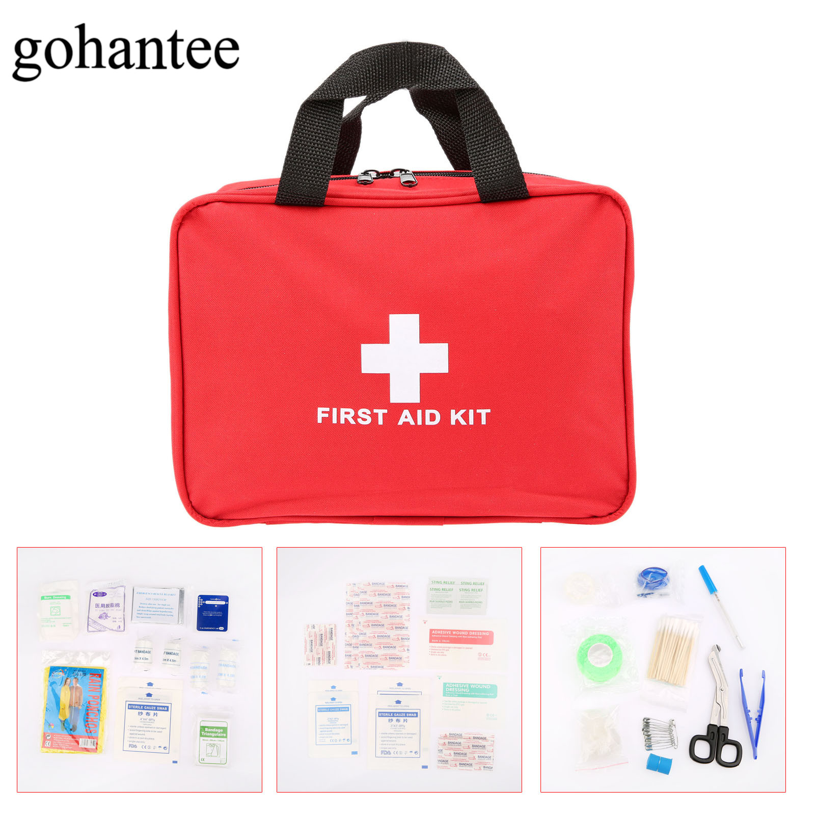 94pcs/Pack (22kinds) Portable First Aid Kit Military First Aid Pouch Outdoor Hiking Travel Home Car Emergency Treatment Pack Bag new fashion waterproof outdoor travel home portable first aid bag carry small medical emergency kit first aid contains 11 kinds