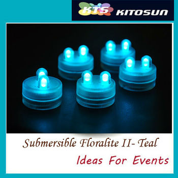 100pcs Super Bright Two LED Submersible Floralyte Waterproof LED Candle Wedding Centerpeice Decoration Light