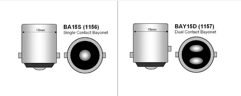 2 ədəd P21W BAY15D 1157 LED 15SMD 2835 Avtomobil Duman İşıqları - Avtomobil işıqları - Fotoqrafiya 3