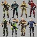 Força de elite 1:18 militar action figure estátua boneca lanard 3.75 polegada japonês guerreiro ninja navy seals