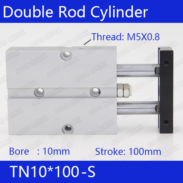 TN10*100-S Free shipping 10mm Bore 100mm Stroke Compact Air Cylinders TN10X100-S Dual Action Air Pneumatic Cylinder sda100 30 free shipping 100mm bore 30mm stroke compact air cylinders sda100x30 dual action air pneumatic cylinder