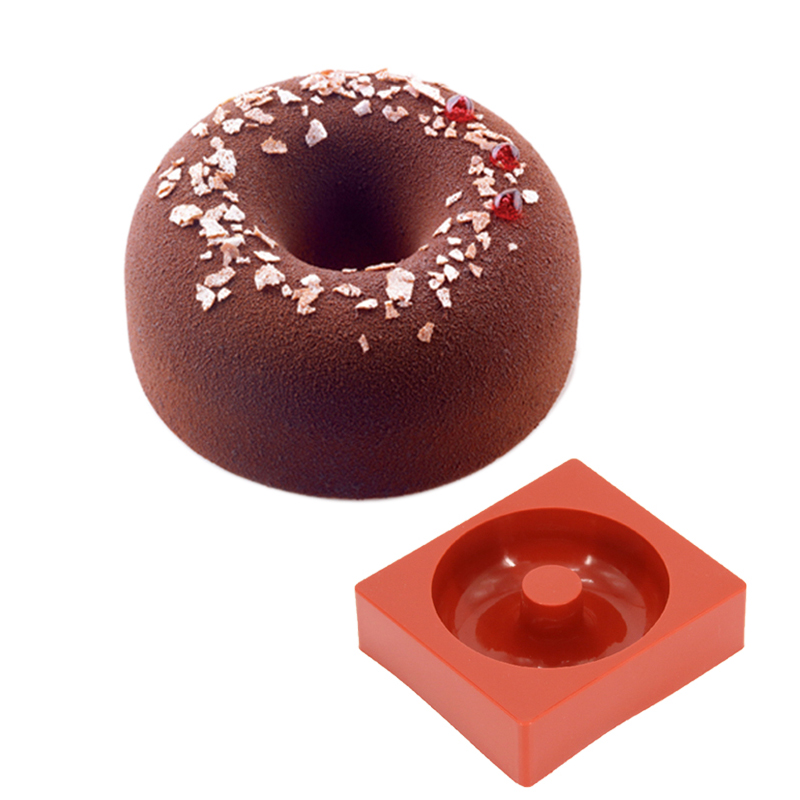 FILBAKE Kitchen Baking Accessories 3D Silicone Round Donuts Hollow Cake Mold Dessert Baking Moulds Mousse Mold Pan