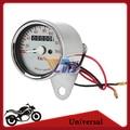 Universal Motorcycle Dual Speedometer Odometer LED Backlit 0~140km/h 12v Speed Meter Gauge Stainless Steel Free Shipping