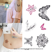 Body Art Sex Products Waterproof Temporary Tattoos For Men Women Lovely Black Butterfly Design Flash Tattoo Sticker HC1168