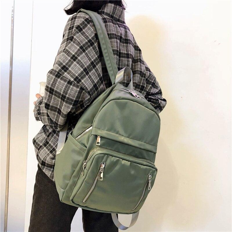DCIMOR Waterproof Nylon Back Pack With Vertical Zipper Women Backpack Female Schoolbag For Teenage Girls Mochilas Travel Bags