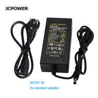 EU Plug Converter DC 24V 3A Server Led Strip Adapter Power Supply AC To DC Power