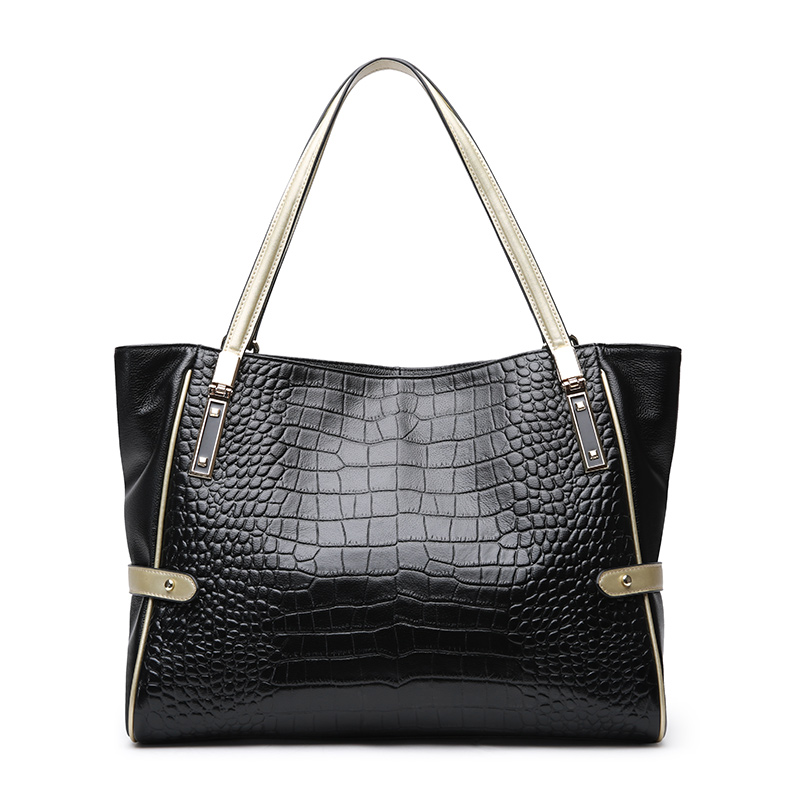 New leather handbag Europe and the United States fashion ladies shoulder bag Crocodile leather handbag Simple Mommy bag 2017 new leather handbags tide europe and the united states fashion bags large capacity leather tote bag handbag shoulder bag