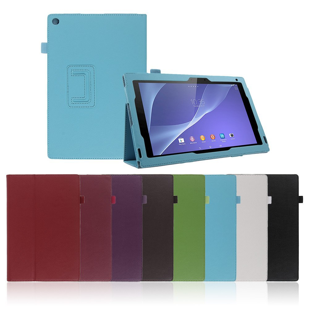 """Folio Leather Stand Case Cover Protective Skin For 10.1"""" Sony Xperia Z2 Tablet for sony Xperia Z2 case+HK Free Shipping Cheap! Price $9.50"""