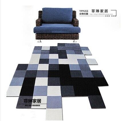Современные ковры ручной работы для гостиной, спальни, модный креативный журнальный столик, диван, инопланетянин, индивидуальность, тренд, ковер на заказ - Цвет: A