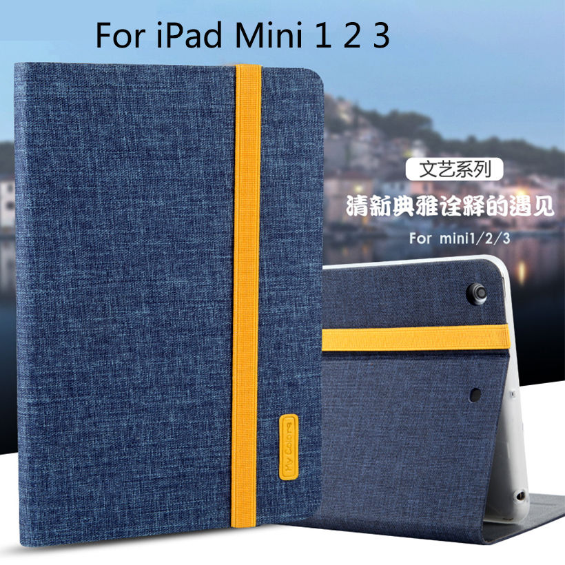Case For Apple iPad mini 1 2 3 Smart Cover Cloth PU Leather+Soft TPU Folio Stand Casual style Protective Ultra Slim Skin Shell nice soft pu leather case for apple 2017 new ipad air 1 cover slim thin flip tpu silicone protective magnetic smart case shell