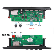 Kebidu 5V Bluetooth MP3 Decoder Board Speaker Including Amplifier Handsfree Car FM Radio Module Recording TF USB AUX