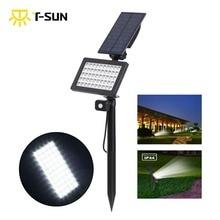 лучшая цена T-SUNRISE 50 LEDs Solar Outdoor Motion Sensor Powered Garden Lights IP44 Waterproof Lawn Lamp Landscape Spot solar Lights