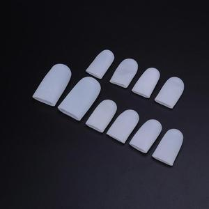 Image 4 - 5 Pairs Silicone Toe Sleeve Gel Toe Cap Cover Protector for Corn Blisters Pain Relief Finger Gel Tube Bunion Massager Insoles