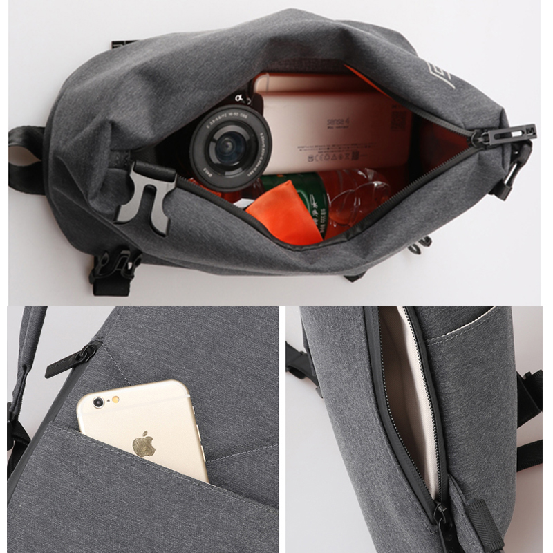 Image 5 - FYUZE New sling bag men crossbody bags for Male Single shoulder bag Anti theft bags Waterproof Casual mini Travel Pouch-in Waist Packs from Luggage & Bags