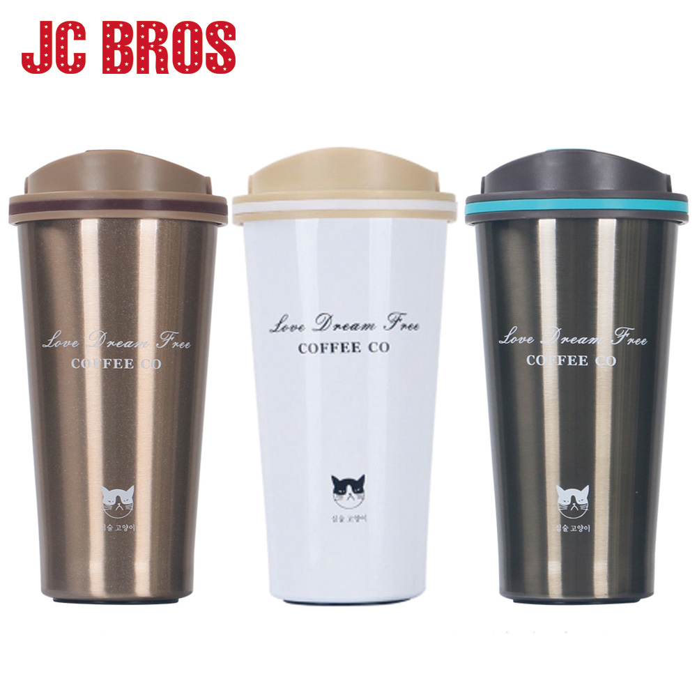 500ML Stainless Steel Vacuum Flask Thermal Coffee Cup Thermos Mug Water Bottles Coffee Tea Bottle Travel Cups Drinkware
