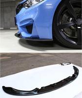 Углеродного волокна автомобиль передний разделитель для губ Набор для бампера, кузова спойлер крышки для BMW F80 M3 F82 M4 2014 2015 2016 2017 2018 3D стиль