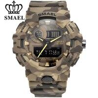 Smaelスポーツウォッチミリタリーウォッチ男性軍デジタルwritwatch led 50 メートル防水メンズ腕時計男性腕時計ギフトcolcks送料無料