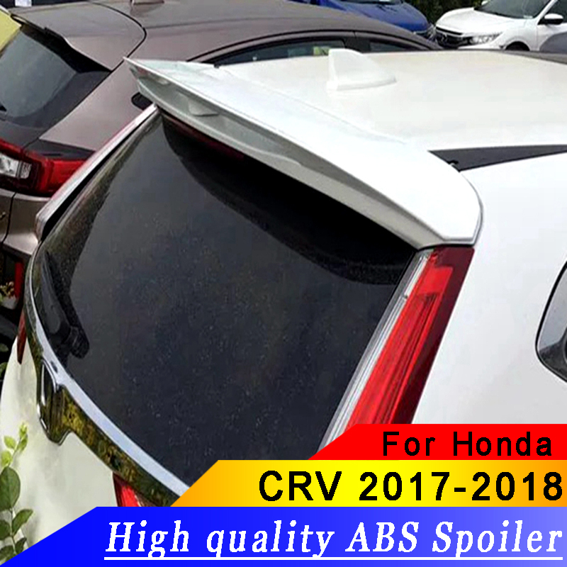 For Honda CRV CR-V 2017 2018 Rear wing spoiler primer DIY color rear Roof High-quality ABS material spoiler