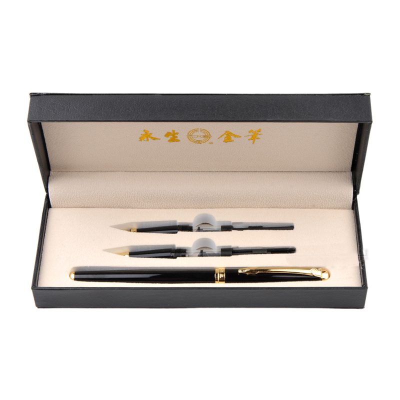 Fashion Gift Fountain Pen Set Wingsung 0.38mm 0.5mm 0.8mm Curved Nib Metal Ink Pens School & Office Supplies Student Stationery authentic hero 9316 fountain pen ink pen iraurita nib 0 5mm calligraphy pen student stationery office business gift box set