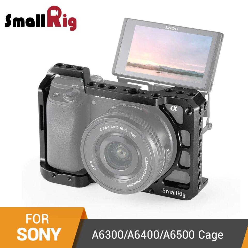 Cage pour reflex numérique SmallRig a6400 pour Sony A6300/A6400/A6500 Cage pour appareil photo avec trous de filetage de 1/4 'et 3/8'-2310