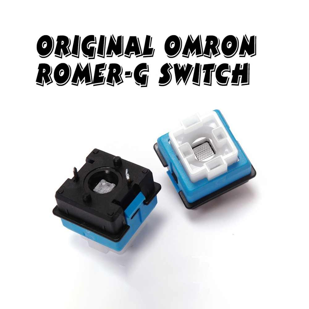4 Pcs/set Asli Omron Romer-g Switch Ormon Sumbu untuk Logitech G910 G810 G310 G413 Pro Cherry Keyboard Mekanik switch