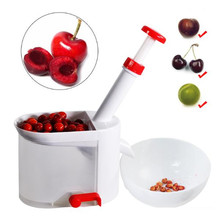 Cherry Pitter Seed Stone Remover Machine Cherry Corer With Container Fruit Tools Kitchen Accessories Novelty Hot Kitchen Gadgets