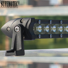 купить Super Slim 30W 60W 90W 20 Inch 6D Lens Single Row Led Work Light Bar For Car Suv 4x4 Off road Trucks Flood Beam Driving Lights дешево