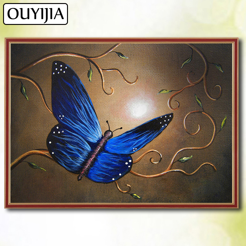OUYIJIA 5D DIY Diamond Painting Full Square Butterfly Diamond Picture Of Rhinestones Embroidery Mosaic Sale Animals Birds Flower