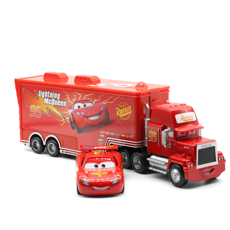 Disney Pixar Cars 2 3 No.95 Lightning McQueen Mack Truck Uncle Diecast Toy Car 1:55 Loose Brand New In Stock & Free Shipping image