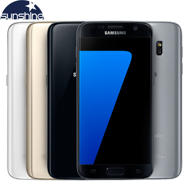 Original Samsung Galaxy S7 LTE 4G Mobile phone Quad Core 5.1'' 12.0MP NFC Waterproof 4G RAM 32G ROM  Smartphone