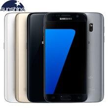 """המקורי samsung galaxy s7 lte 4 גרם הטלפון סלולרי quad core 5.1 """"מגה פיקסל. nfc עמיד למים 4 גרם ram 32 גרם rom smartphone"""