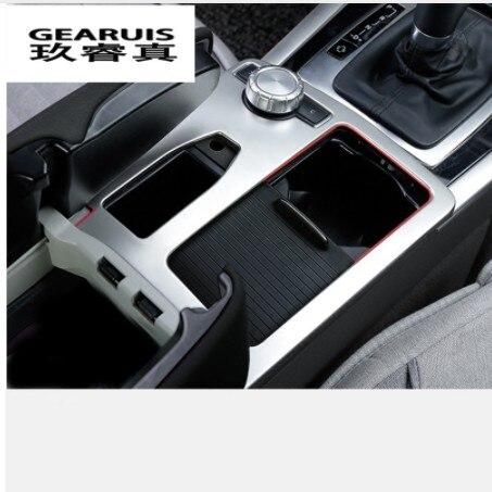 Garniture de décoration de panneau de support de verre d'eau d'acier inoxydable d'intérieur de style de voiture pour Mercedes Benz classe E W212 Coupe 2010-2012 LHD