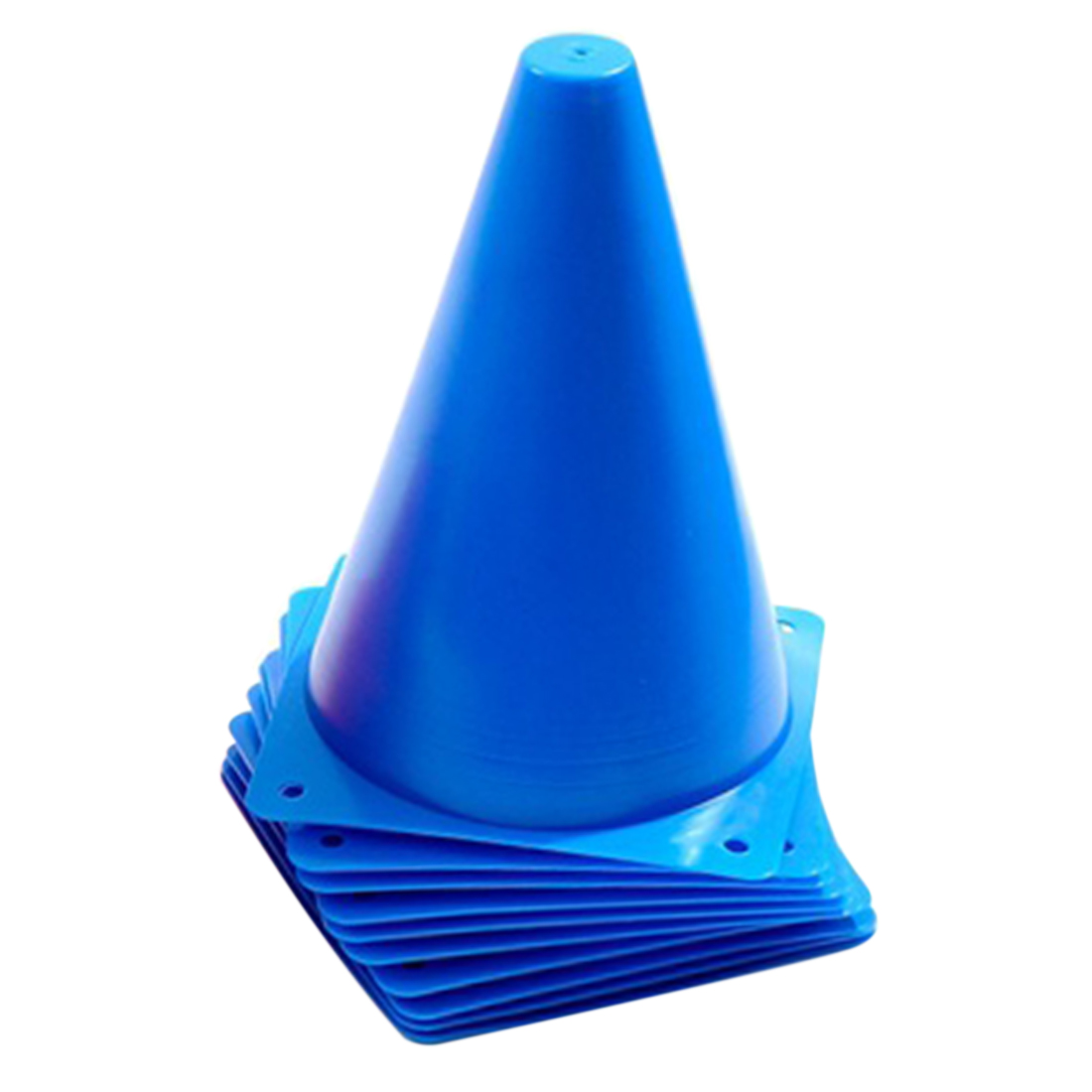 High Quality Football and Rugby Marker Cones - pack of 50 brightly coloured marker disc cones plus stand, great field and pitch markers for football, soccer, rugby, basketball training, zone markers for training, practice and agility drills.