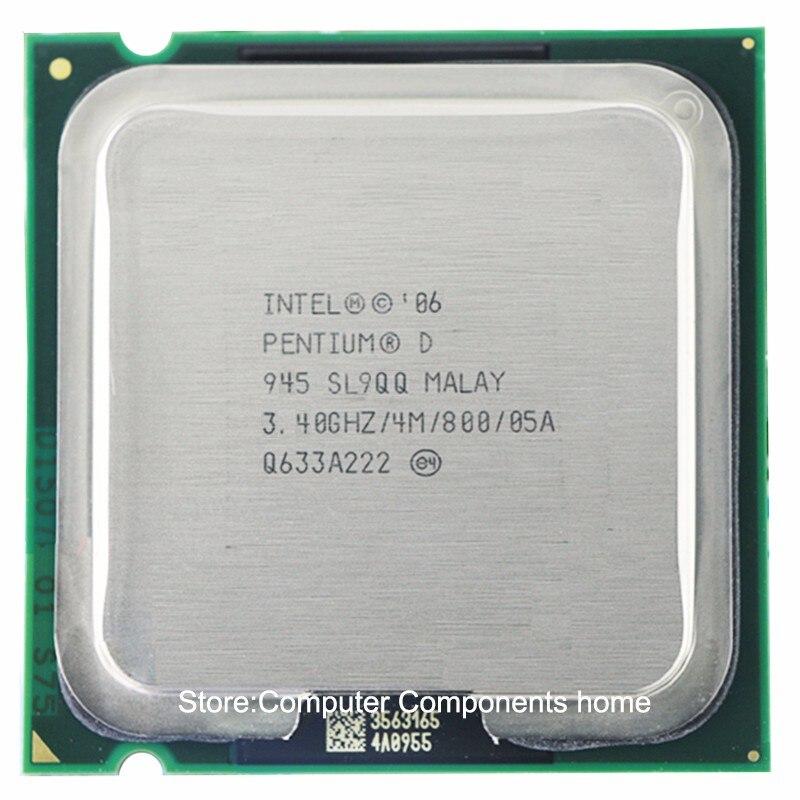Intel Pentium D945 PD945 Socket LGA 775 מעבד PD 945 מעבד (3.4 Ghz/4 M/800 GHz)