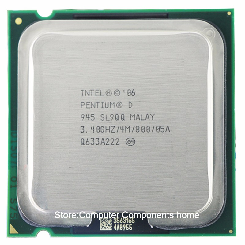 Intel Pentium D945 PD945 Socket  LGA 775 Processor PD 945 CPU (3.4Ghz/ 4M /800GHz)