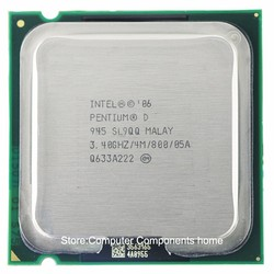 Intel Pentium D945 PD945 Socket LGA 775 procesador PD 945 CPU (3,4 Ghz/4 M/800 GHz)