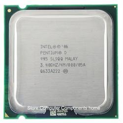 Intel Pentium D945 PD945 soket LGA 775 işlemci PD 945 CPU (3.4 Ghz/4 M/800 GHz)