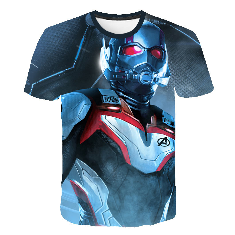 New <font><b>League</b></font> <font><b>of</b></font> <font><b>Legends</b></font> <font><b>Men's</b></font> Compression Quick-drying Tops: Endgame T-shirt Avengers 4 Infinite Wars Quantum T-shirt Hero <font><b>Cosplay</b></font> image