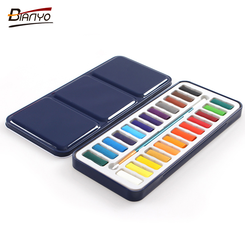 Bianyo Solid Watercolor Paints - 12, 18 or 24 colors 3
