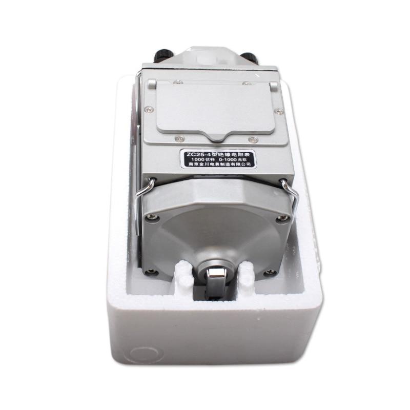 Tools : ZC25-4 1000V 1000M     ohm Insulation Megohm Tester Resistance Meter Megger Megohmmeter with plastic case High quality