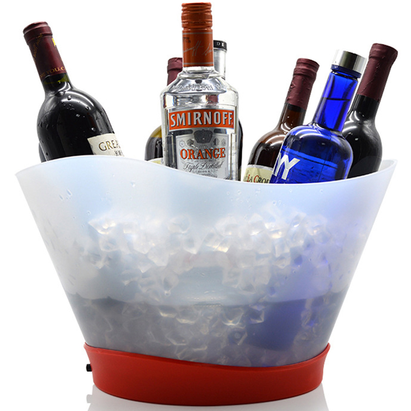 12L Super Large LED Ice Bucket Chargeable Champagne Wine
