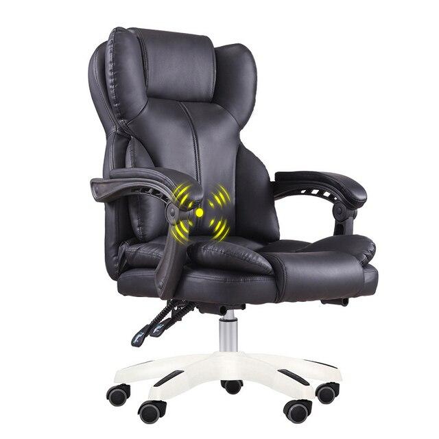 Computer Game Chair Office Boss Nap Chair for 150kg SGS Ergonomic Handrail PU Chair with Waist Massage Y Shape E-sports Chair 1