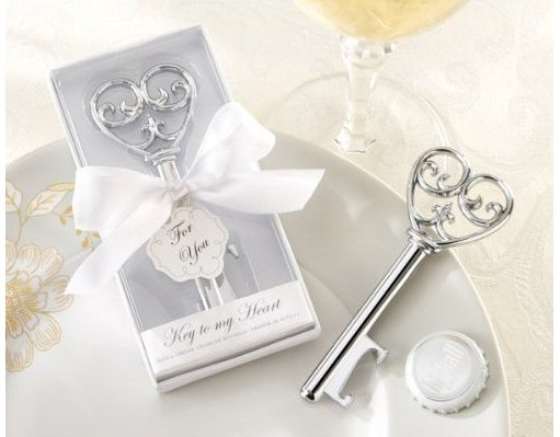 Factory directly sale Wedding favor 180PCS/LOT Key to my Heart Bottle opener gifts Party Supplies free shipping