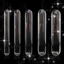 Cylinder Glass Dildo Big Huge Large Glassware Penis Crystal Anal Plug Women Sex Toys for Women G spot Stimulator Pleasure Wand