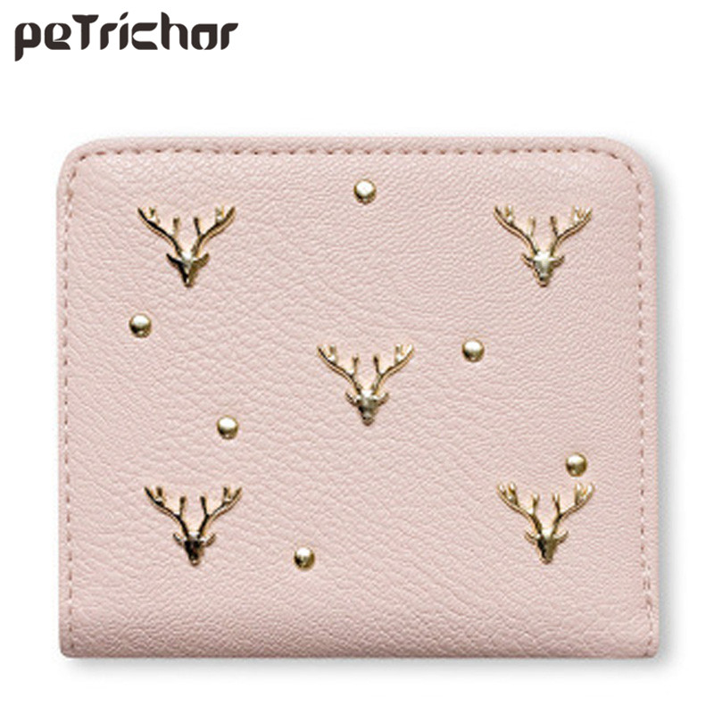 Cute Wallets Women Designers Brand Leather Purse for Ladies Photo Credit Holder Preppy Style Hasp Mini Bags Black Wallet