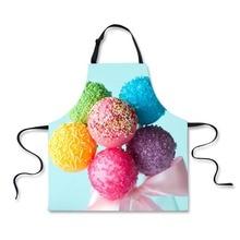 Rainbow Colorful Candy Design Apron for Women Men
