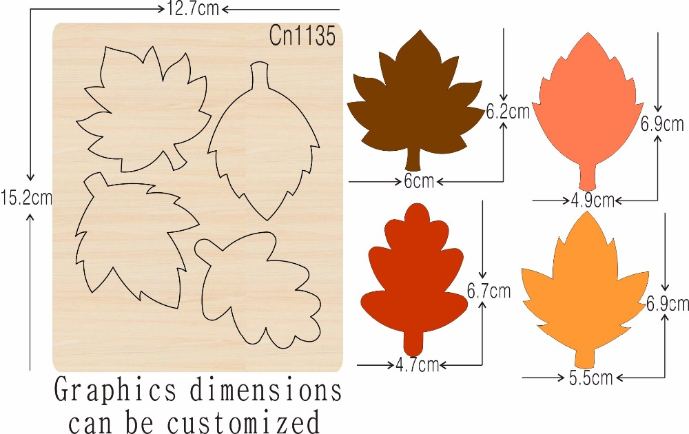 Leaf cn1135 muyu cutting die new wooden mould cutting dies for scrapbooking Thickness 15 8mm
